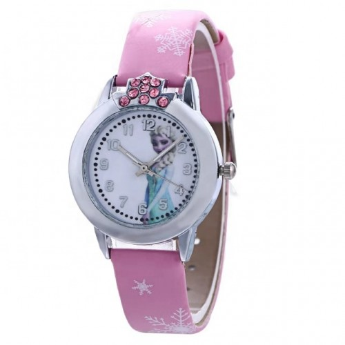 Disney Frozen  Horloge  Leer -Roze Ø 29 mm