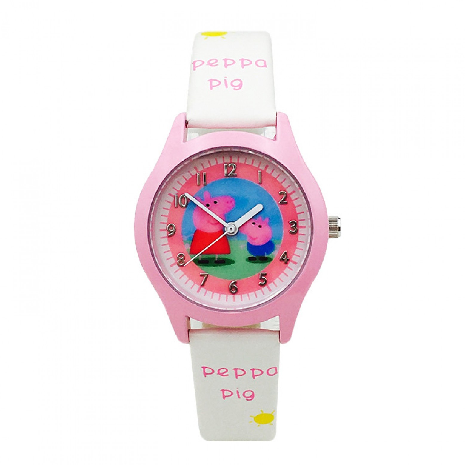 Peppa pig horloge wit