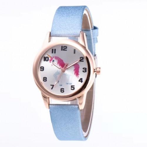 Unicorn horloge licht blauw