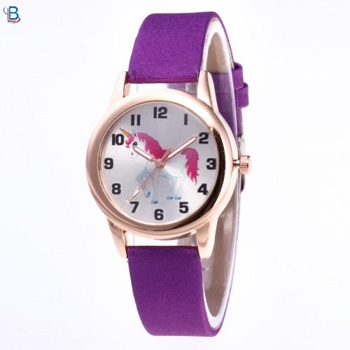 Unicorn horloge paars