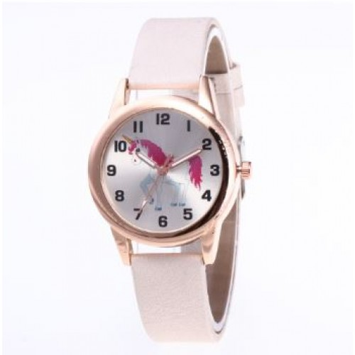 Unicorn horloge wit