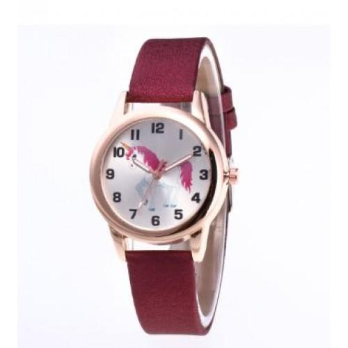 Unicorn horloge rood