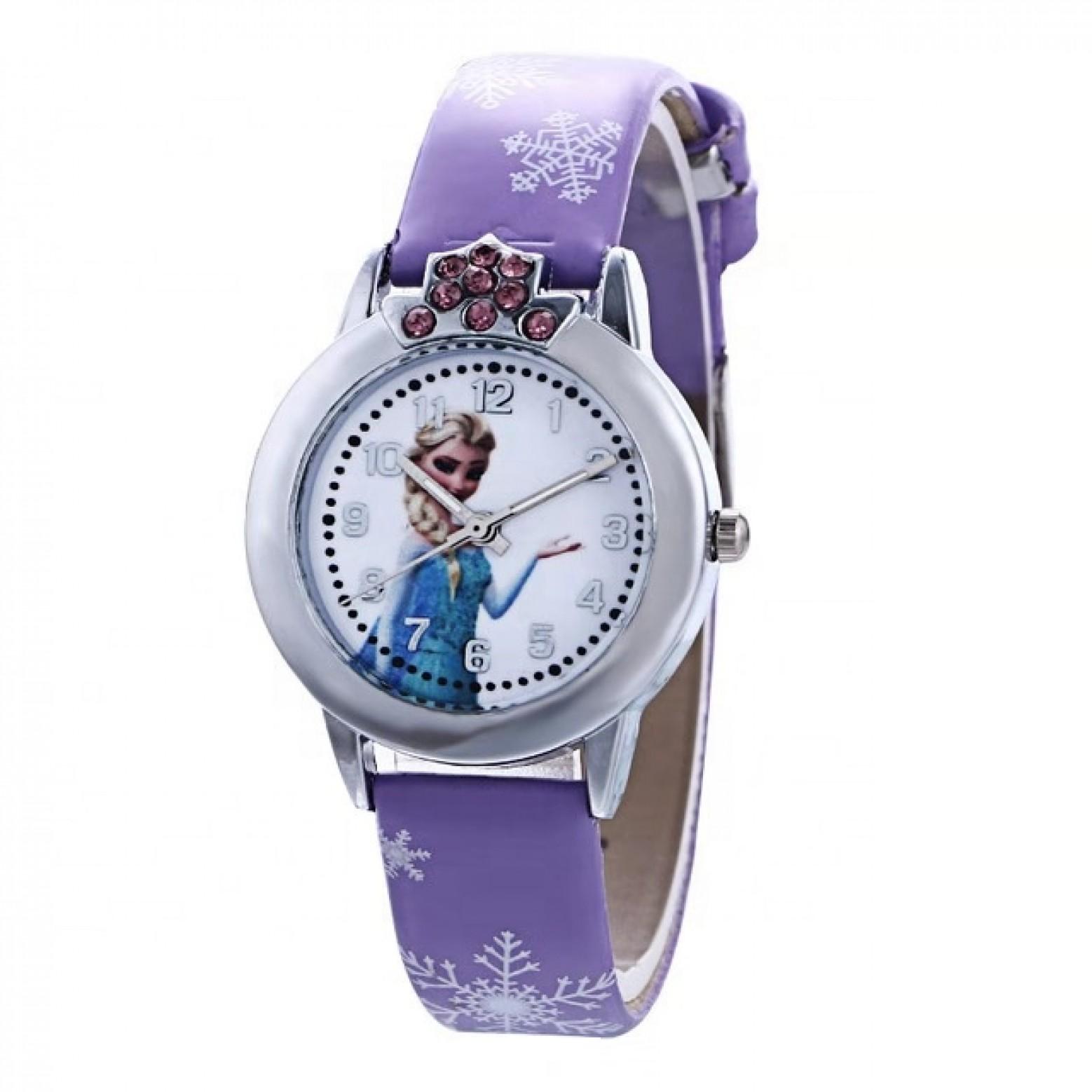 Disney Frozen  Horloge  Leer  Paars Ø 29 mm