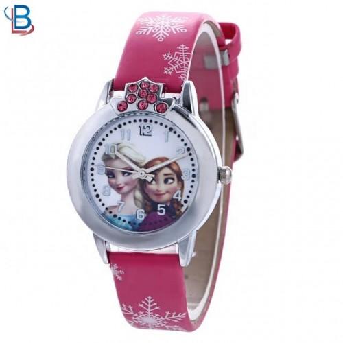Disney Frozen Horloge Leer - Roze - Ø 29 mm