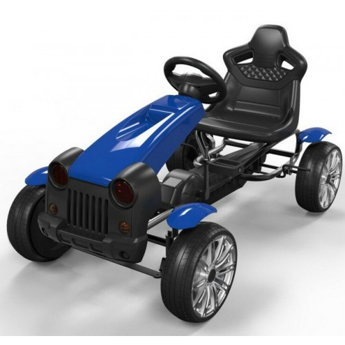Auto skelter blauw