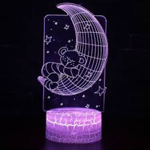 Moon Bear  LED  Nachtlampje 7 Kleuren