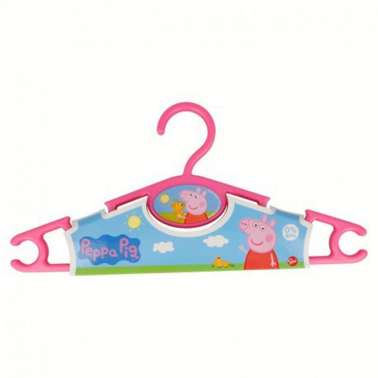 Peppa pig kledinghangers set van 3