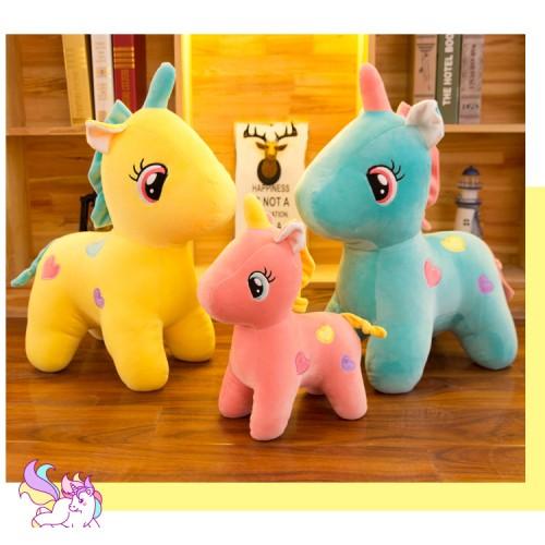 Unicorn knuffels set van 3