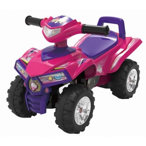 Loopauto roze paars