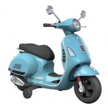 Elektrische Vespa kinderscooter blauw