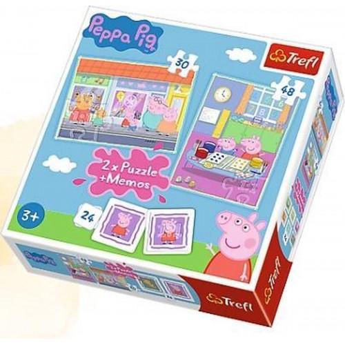 Peppa Pig 2 x puzzel en memory