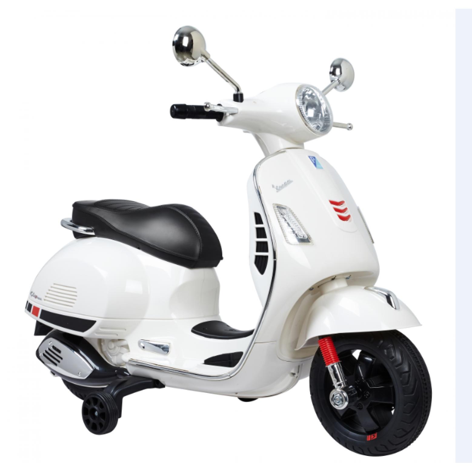 Elektrische Vespa kinderscooter wit