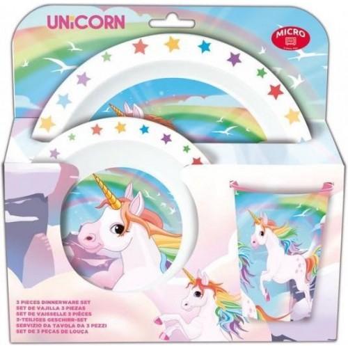 Unicorn 3-delig ontbijtset ook geschikt voor in de magnetron