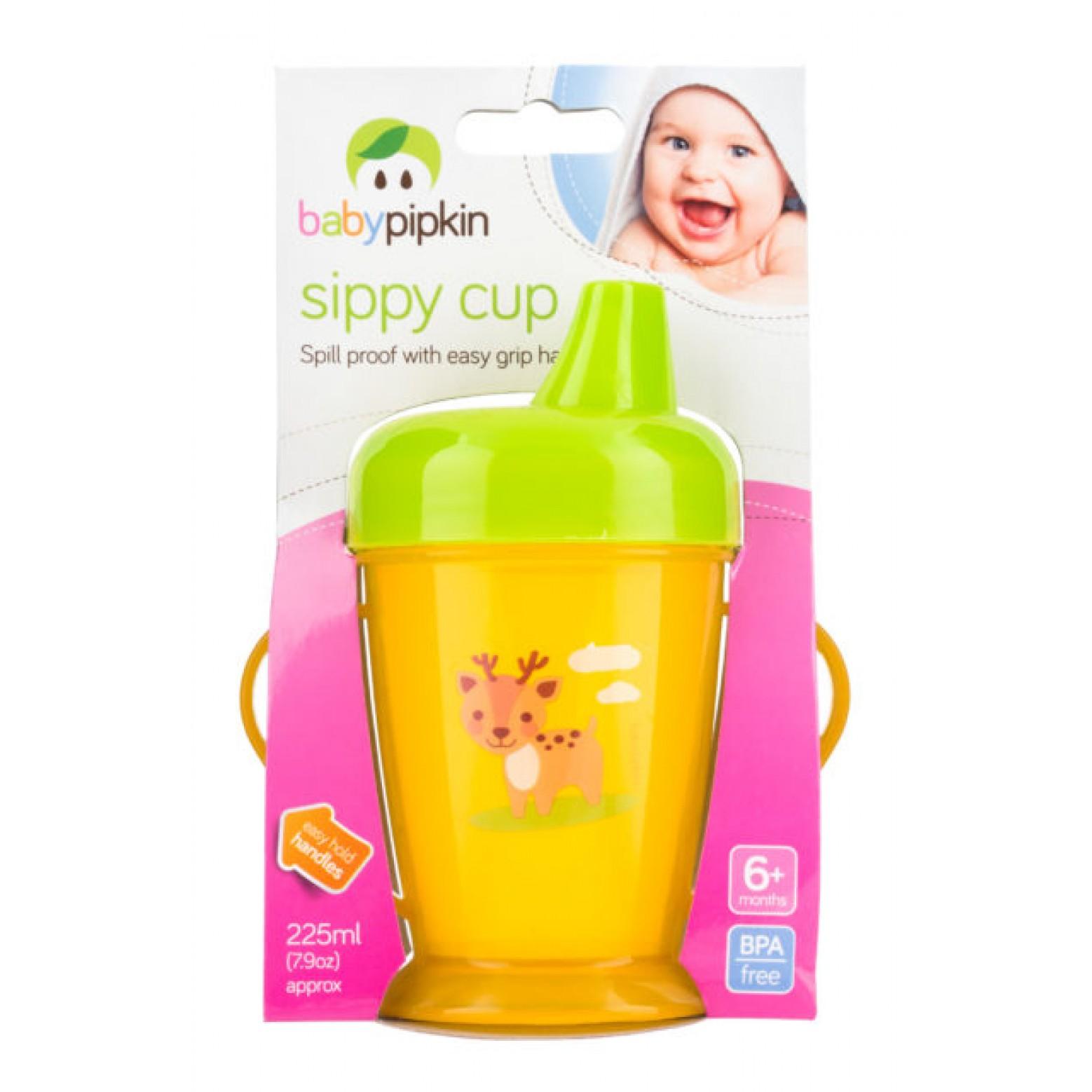 Babypipkin anti-lekbeker blauw/roze