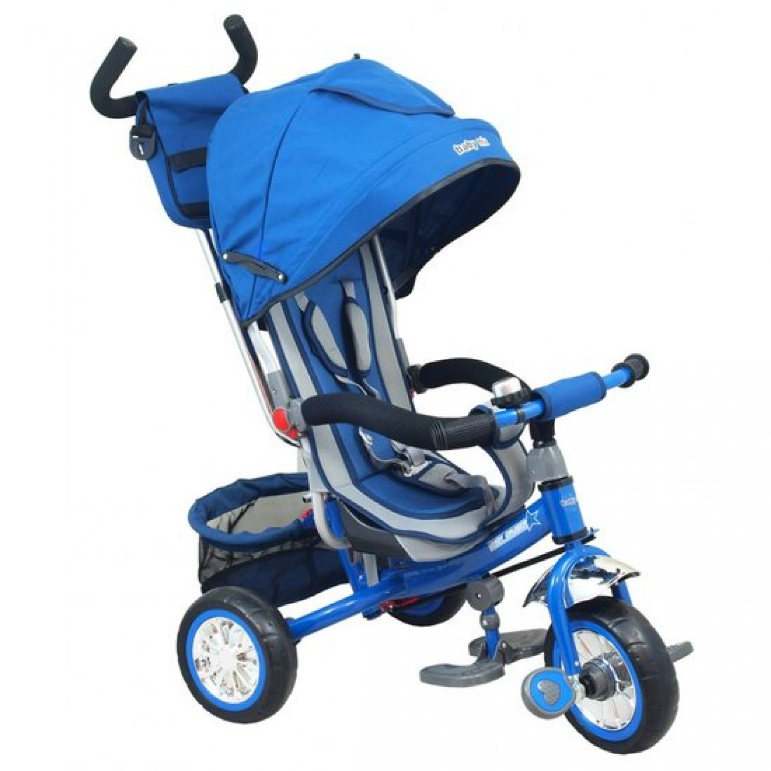 Multifunctionele driewieler in blauw