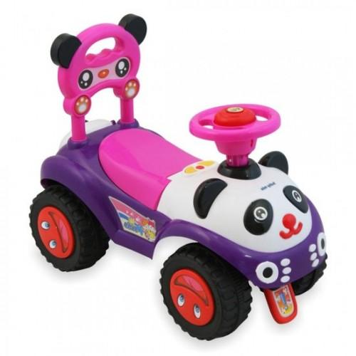 Kleine Panda loopauto-rose