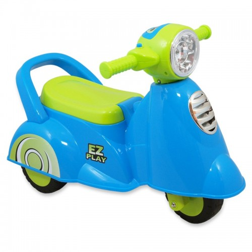 loop scooter blauw