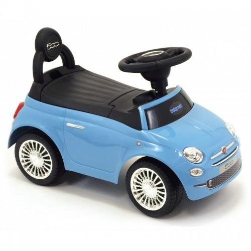 loop auto fiat 500 blauw