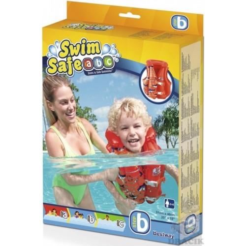 Bestway swim safe zwemvest 3-6 jaar rood