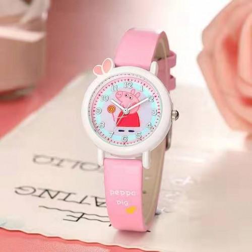 Peppa pig horloge licht roze