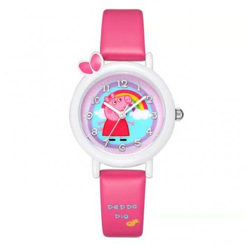 Peppa pig horloge donker roze