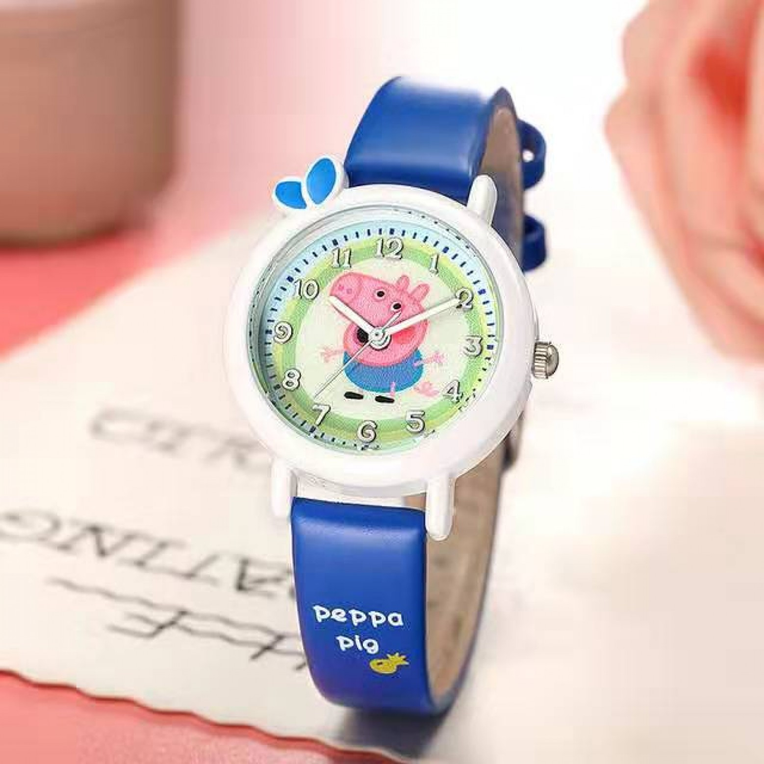 Peppa pig horloge blauw