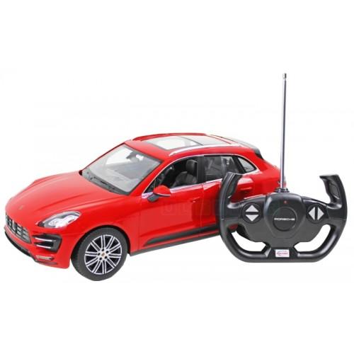 Porsche macan turbo rood