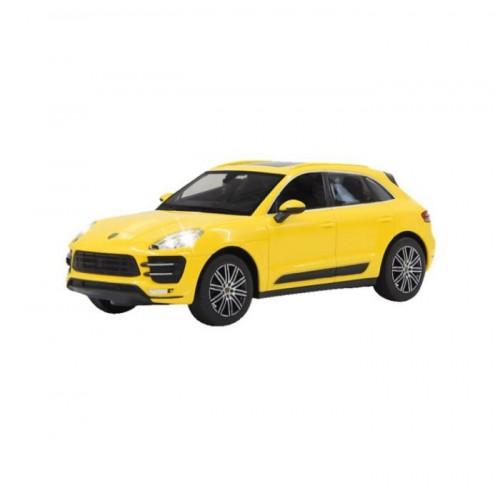 Porsche macan turbo geel