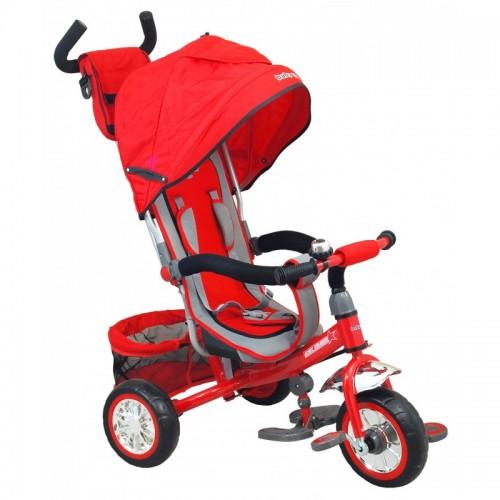 Multifunctionele driewieler in rood