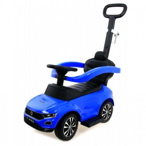 VW T-ROC loopauto blauw
