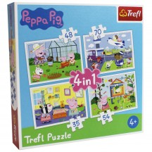 Peppa Pig  Puzzel 4 in 1 3+