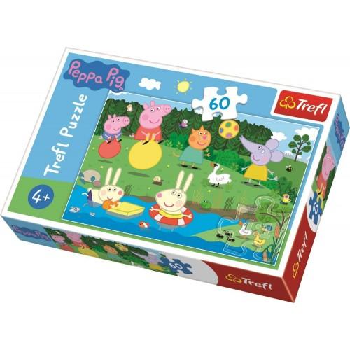 Peppa pig puzzel holiday fun 60 stukjes