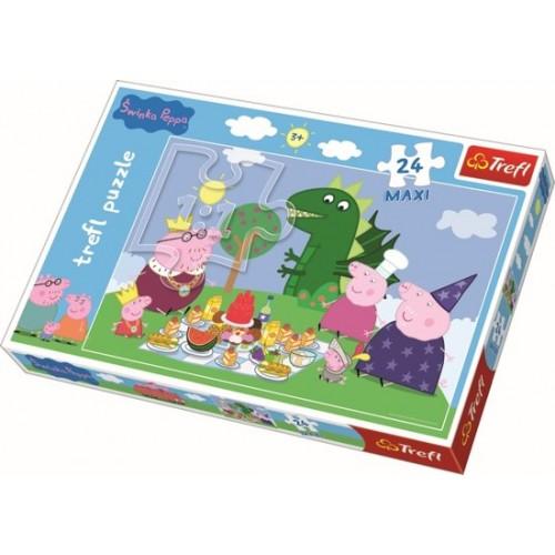 Maxipuzzel / Feest! / Peppa Pig, 24 stukjes Puzzel