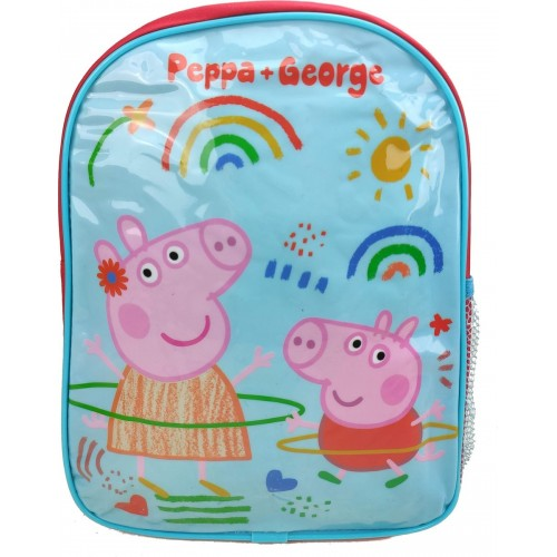 PEPPA & GEORGE PIG Rainbow Rugzak Rugtas School Tas 2-5 Jaar