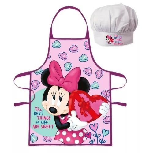 Minnie Mouse kookschort met ovenwant muts 3-8 jaar