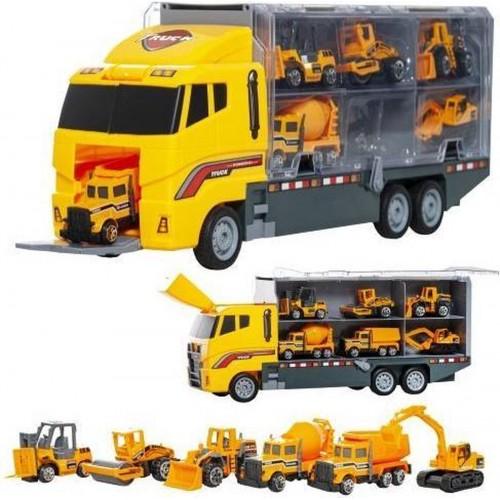 Vrachtwagen - Bouwvrachtwagen - met heftruck- Wals - Bulldozer - Cement wagen - Vrachtwagen