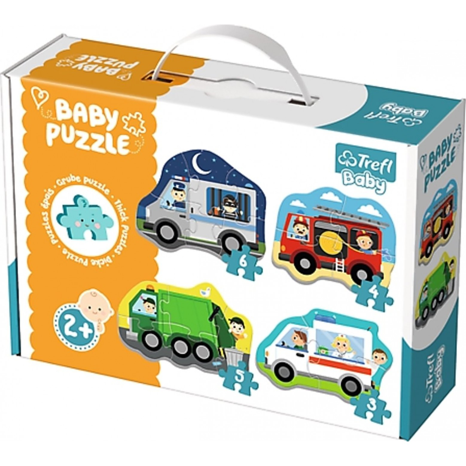 Trefl Baby puzzel voertuigen 2+