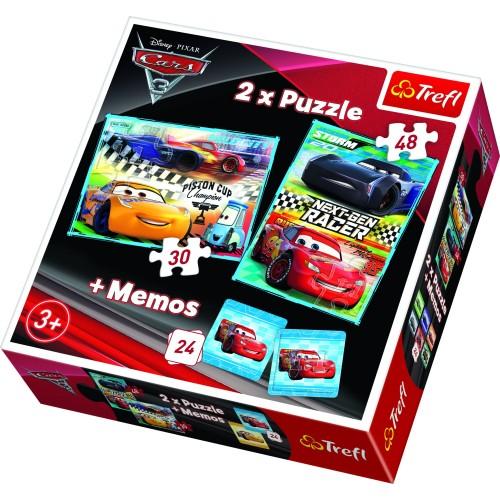 Cars puzzel 2 stuks en memoryspel