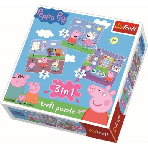 Peppa Pig 3 in 1 puzzel 3+
