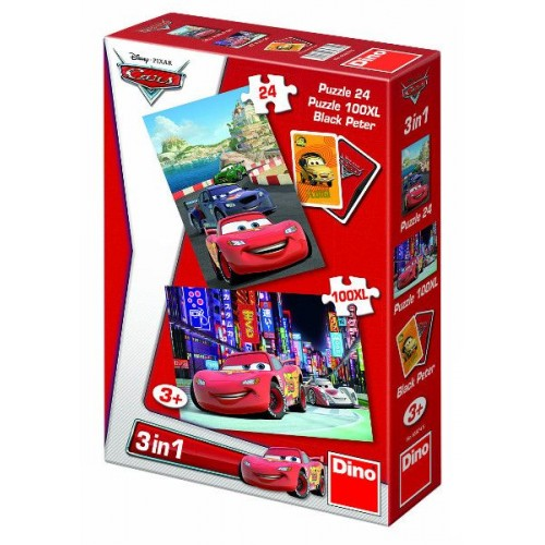 Cars 3 in 1 puzzel 3+