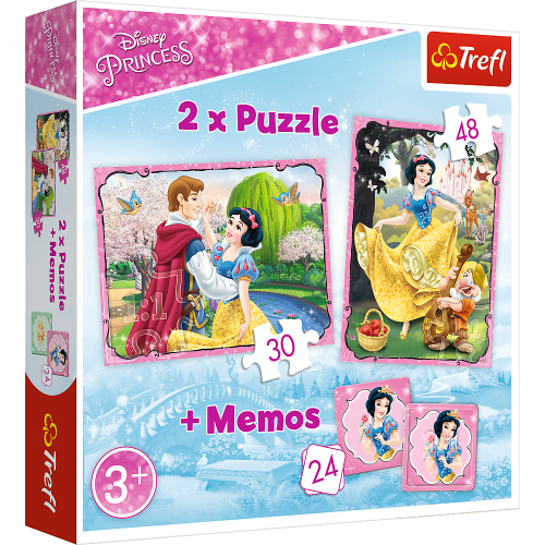 Disney Princess puzzel 2 stuks met memory spel
