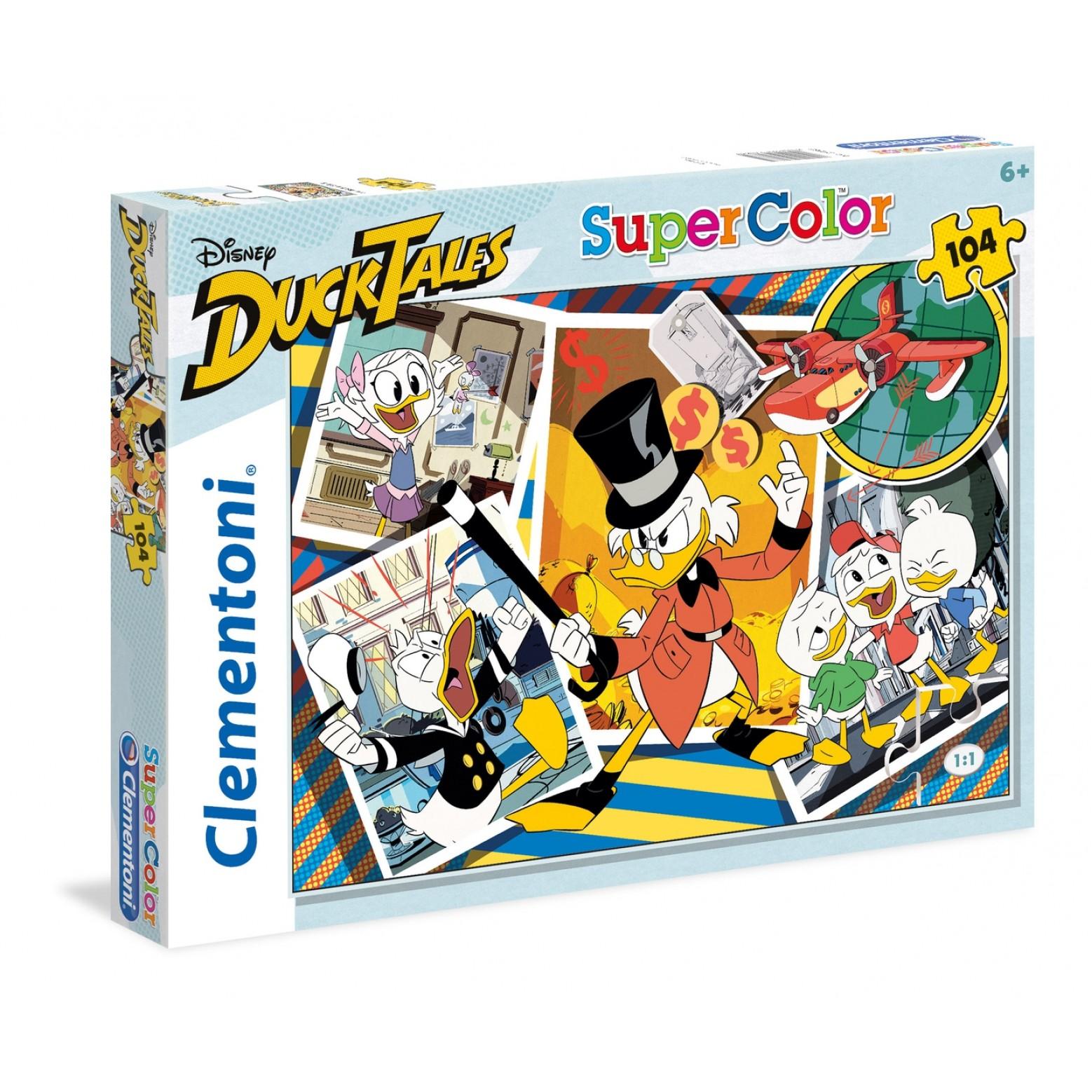 Clementoni Disney Ducktales puzzel 104 stukjes 6+