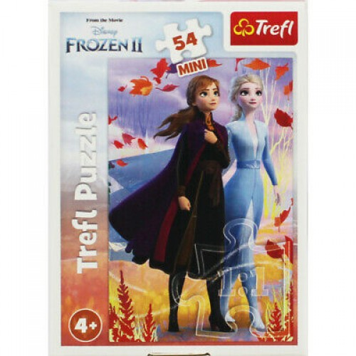 Disney Frozen mini puzzel Elsa en Anna 2x 54 stukjes vanaf 4 jaar