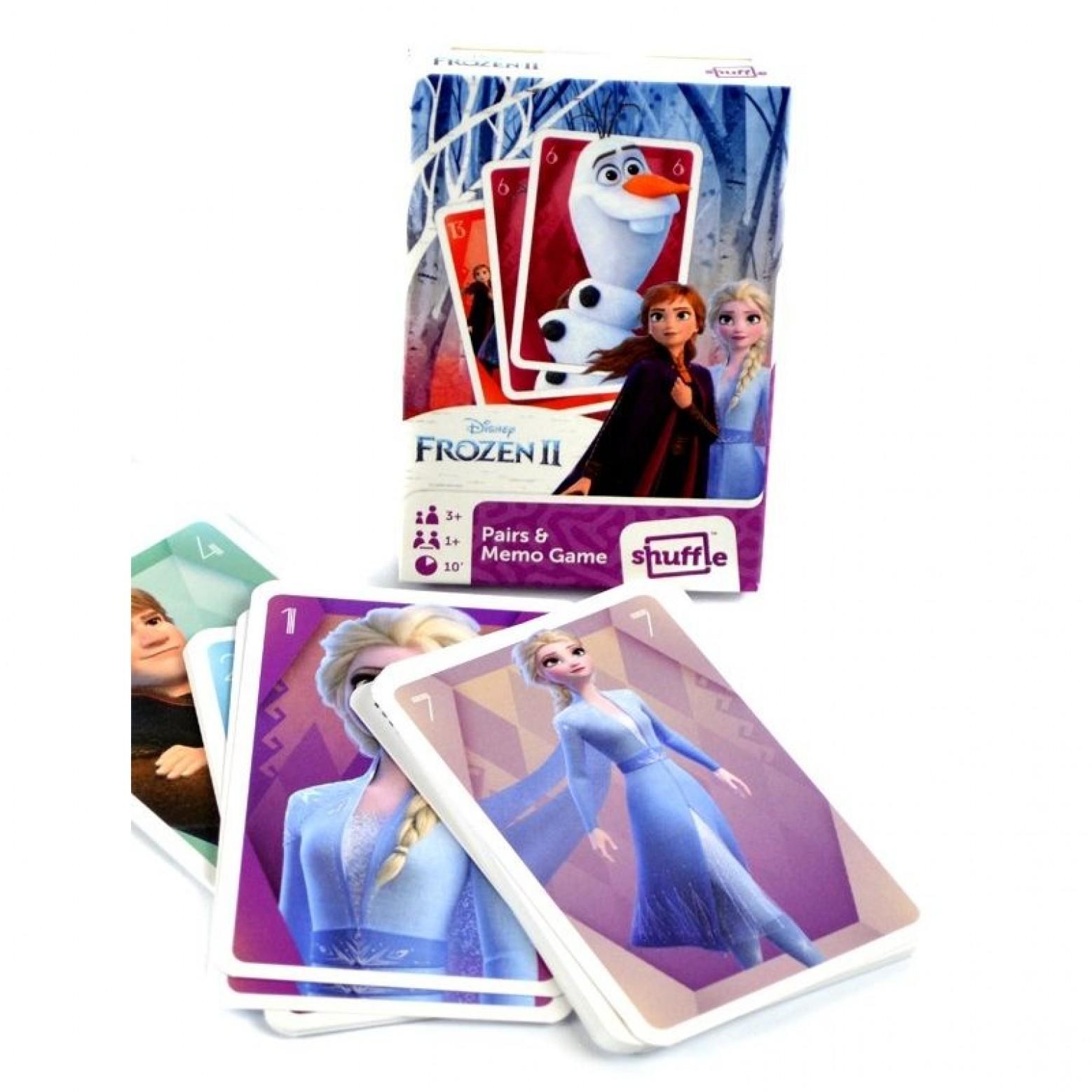 Frozen II memory en black peter kaartspel