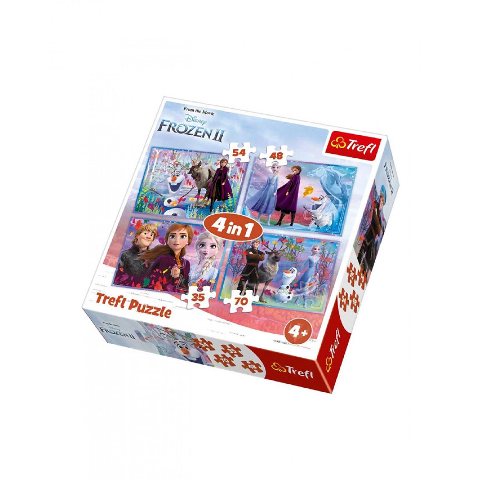 Frozen II 4 in 1 puzzel 4+