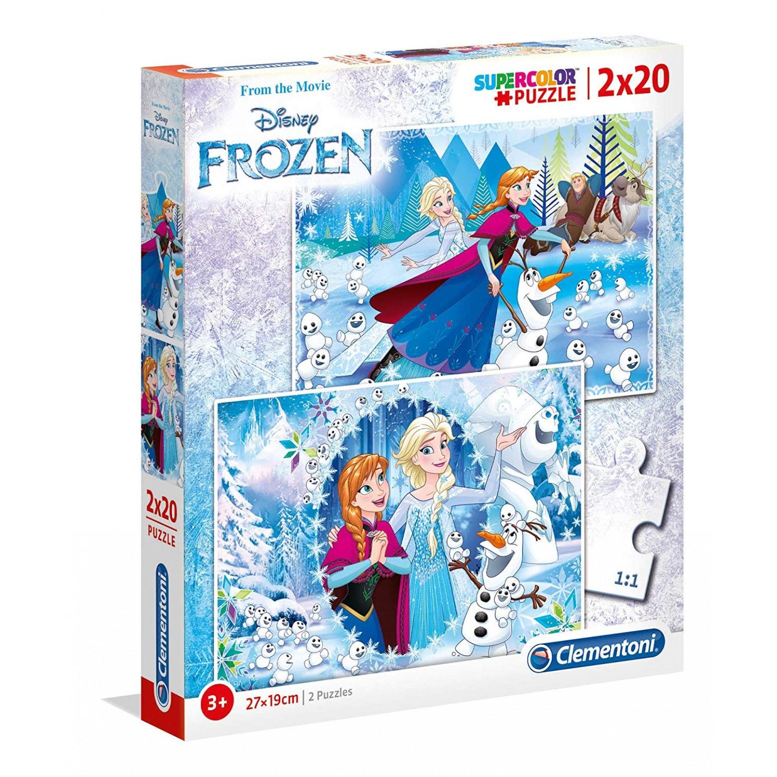 Frozen puzzel 2 x 20 stukjes 3+
