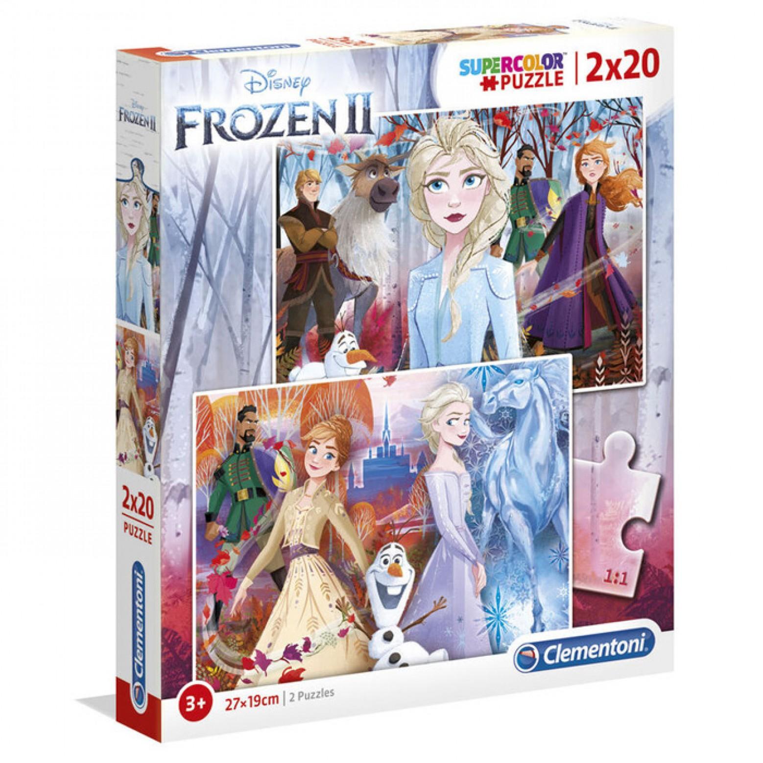 Frozen II puzzel 2 x 20 stukjes 3+