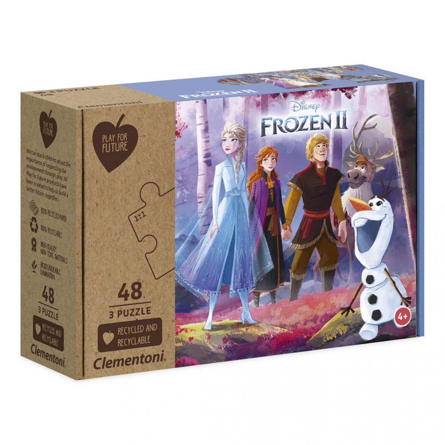 Frozen puzzel 3 x 48 stukjes 4+