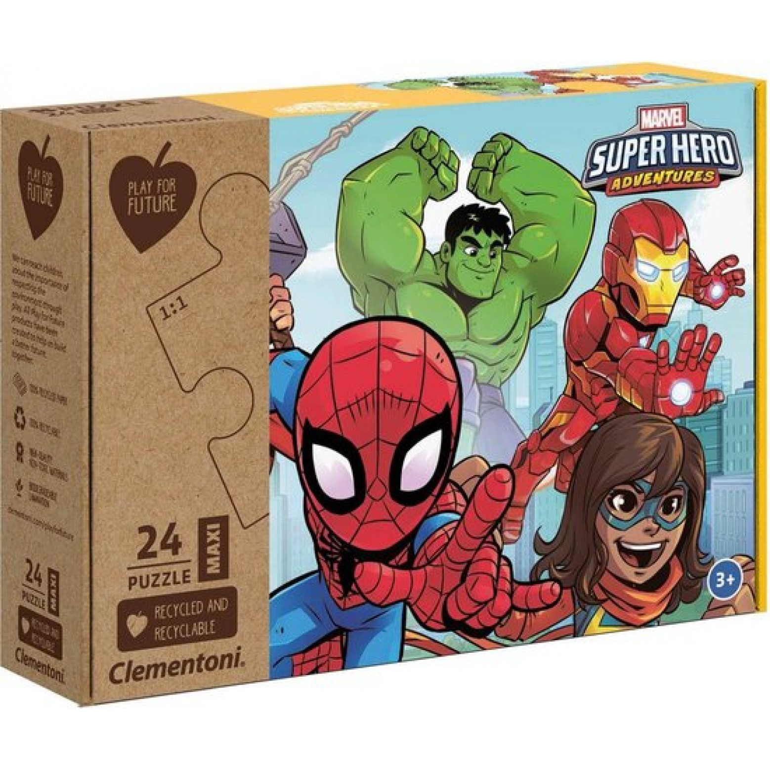 Marvel Super Hero Adventures 24 stukjes 3+