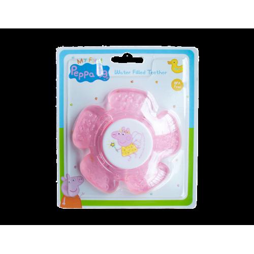 Peppa Pig rammelaar en bijtring vanaf 3 maand roze